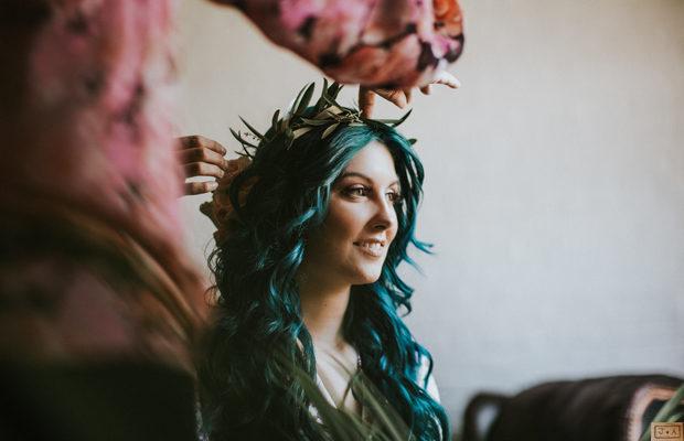 булка със зелена коса